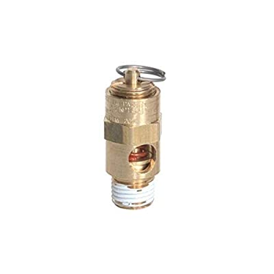 """Midwest Control SRV25-155 ASME Soft Seat Safety Valve, 155 psi, -65 Degree F - 400 Degree F Temperature Range, 1/4"""" by Midwest Control"""