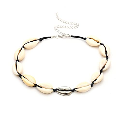 CHENLING Y2k Bohemia Collar de concha natural para mujer Conch Seashell Collar Gargantilla Playa Boho Verano Collares Joyería Collares