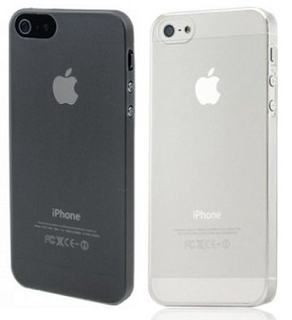 itronik 2 x Ultra dünne Schutzhülle kompatibel mit iPhone 5 5S 5SE Hülle 0,2mm in schwarz & weiß transparent