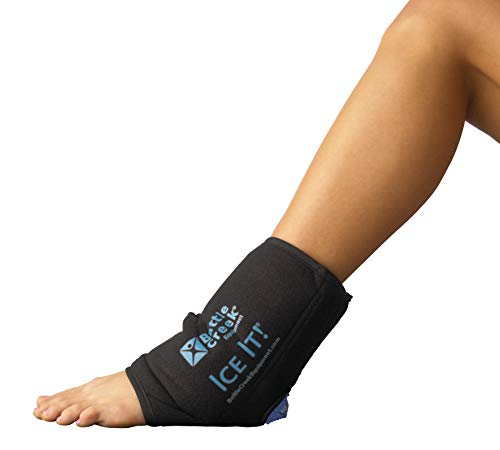 Cold & Hot Therapy System Ice Pack Wrap for Ankle, Elbow and Foot - Ice It! MaxCOMFORT (Ankle/Elbow/Foot Design; 10  x 13) - from Battle Creek Equipment, Hot & Cold Therapy Items Since 1931