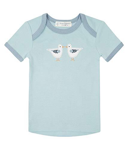 Sense Organic T-shirt rétro pour bébé - Bleu - 9 mois