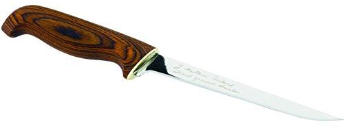 Marttiini Finnisches Filetiermesser, Klinge 15 cm, Pakka-Holz Griff, Lederscheide, 901215