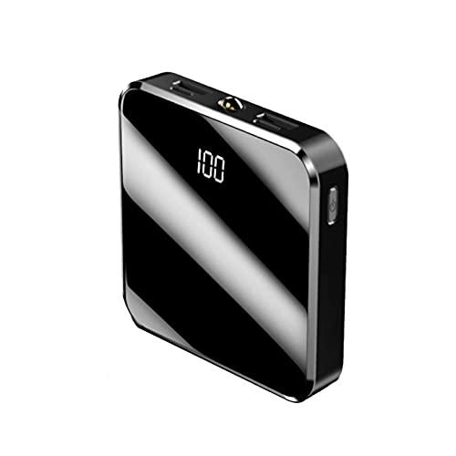 SUYING Pocket Power Bank 20000 mAh, cargador rápido tipo C con LED, batería externa portátil dual USB 2.1A, compatible con iPhone, Huawei, Samsung, Tablet (NEGRO)