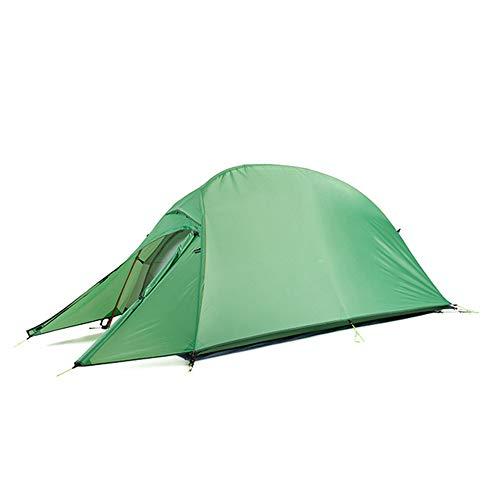 Zelt BLTLYX Zelt Campingzelt Ultraleichte Wanderung 20d/210t Stoff Für 1 Person Mit Matte Warm 20D Grün