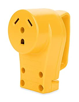 Camco 55343 30 AMP Female Replacement Receptacle  Yellow