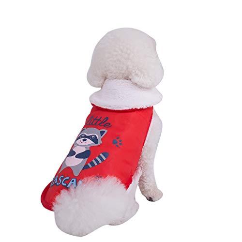 Fossen Ropa Perro Pequeño Invierno, Sudaderas Camiseta Abrigo Ropa Mascotas para Gato Perros Mediano Chihuahua