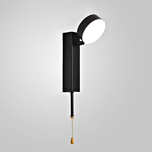 LXHK Lámpara de Pared Interior Moderna, Lámpara de Cabecera de Pared con Puerto USB, Luz de pared con Interruptor, Lámpara de Lectura para Libro Cama, 3 Temperatura de Color, para Dormitorio,E