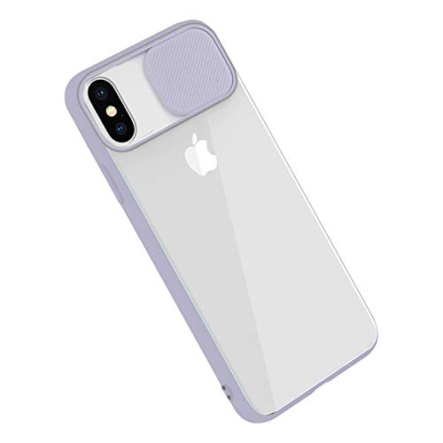 Rdyi6ba8 Cover per iPhone XS Max, Custodia CamShield [Protezione Fotocamera] Protettiva Trasparente Sottile Leggero Antiurto Hard PC Case per iPhone XS Max - Viola