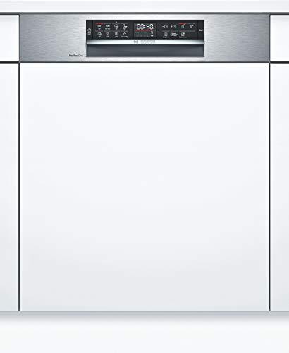 Bosch SMI6ZCS49E Serie 6 Geschirrspüler Teilintegriert / A+++ / 60 cm / Edelstahl / 237 kWh/Jahr / 14 MGD / SuperSilence / EmotionLight / VarioSchublade / Home Connect