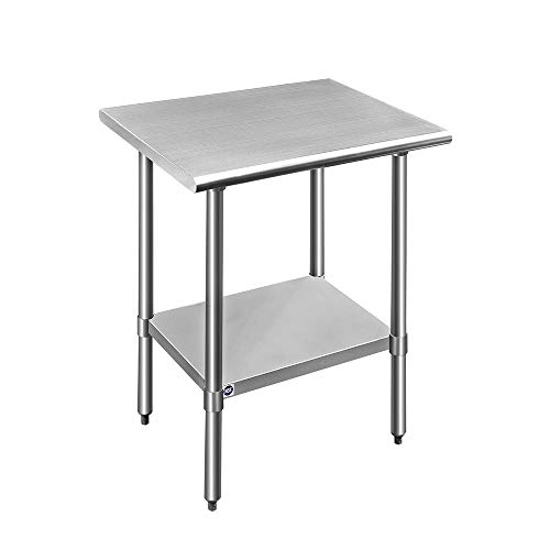 ROCKPOINT Stainless Steel Kitchen Prep & Work Table, 30x24x34.7inch, Silver