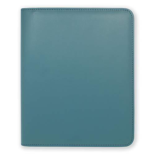Boxclever Press Funda Esencial para Agenda A5 de Cuero Sintético con Cierre de Cremallera y Bolsillo Interior. Elegante Funda Diseñada para Ayudarte a Organizar Mientras Proteger tu Agenda (Azul Marino)