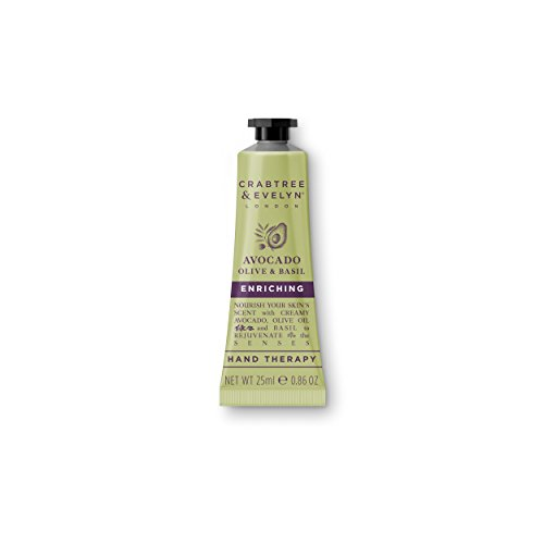 Crabtree & Evelyn Ultra Moisturising Hand Therapy, Avocado Olive and Basil, 0.86 oz