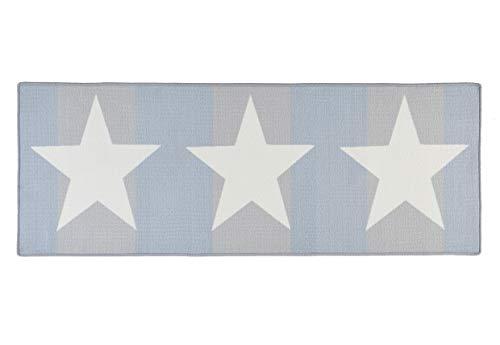 Hanse Home Küchenläufer Sterne Creme Blau, 67x180 cm