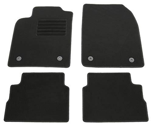AD Tuning HG10788 Velours Fußmatten Set (4-teilig) Schwarz Passform Autoteppiche
