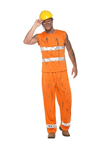 Smiffys Costume Disfraz de Minero, Color Naranja, XL-Size 46