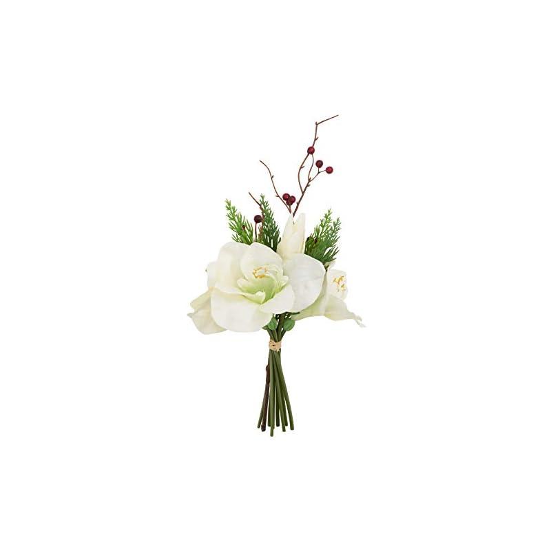 silk flower arrangements saro lifestyle amaryllis bunch collection artificial flowers, white