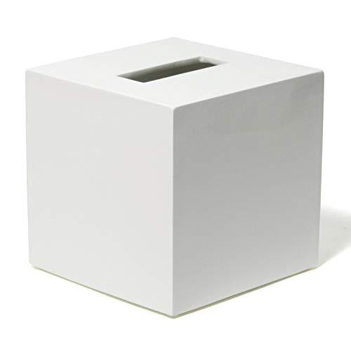 Jonathan Adler Lacquer Bath Tissue Box Cover, One Size, White