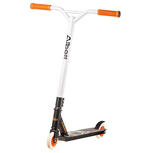 Albott Pro Scooters Stunt Scooter - Complete Trick Scooters Beginner Freestyle Sports Kick Scooter with Fixed Bar Scooter for 8 Years and Up,Teens,Adults (Orange)