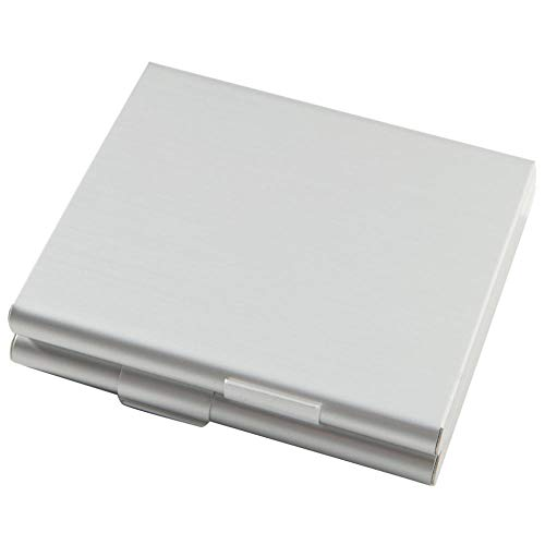 WSS Shoes Caja de cigarrillo de aluminio fino titular de la caja de doble cara Flip Open Pocket Box para cigarrillos Contenedor de almacenamiento Accesorios para fumar plata-China (Color: Plata)
