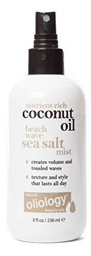 Oliology Coconut Oil Beach Wave Sea Salt Mist Spray - Creates Volume and Tousled Waves, Texture...