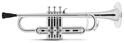 Classic Cantabile MardiBrass ABS Kunststoff Trompete - Perinet-Ventile - 510g leicht - Bohrung: 11,6 mm - inkl. Mundstück und Leichtkoffer - silber