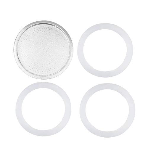 renvena Stainless Steel Gasket Filter Plate Replacement Parts,for 3/6/9/12 Cup Moka Pot Coffee Bottle 3 Cup Size OneSize