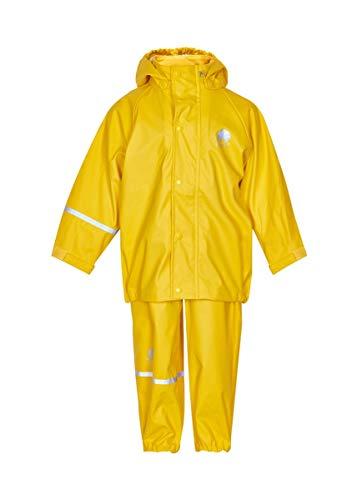 CeLaVi Jungen CeLaVi zweiteiliger Regenanzug in vielen Farben Regenjacke,,per pack Gelb (Gelb 324),(Herstellergröße:110)
