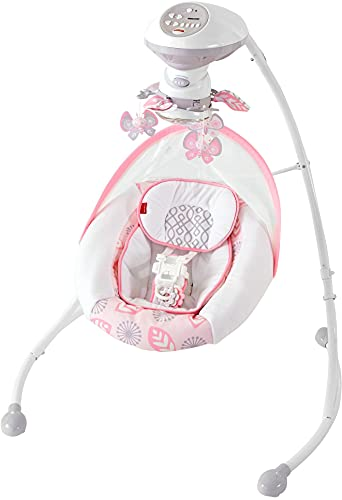 Fisher-Price Deluxe Cradle 'n Swing- Surreal Serenity - Soothing Baby Swing With Two Swinging Motions, Super Soft Fabrics & a Built-In Mobile [Amazon Exclusive]