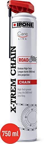 IPONE - Grasa de Cadena para Moto Carretera X-Trem Chain Road - Larga duración 800 km - Pulverización precisa sin salpicaduras - Bote de espray con difusor multiposición 750 ml