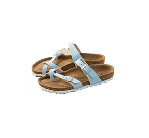 ypyrhh Sandalias De Ducha de Casa,Flat Cork Slippers, Anti-Skid pinnant Shares-Sky Blue_36,Sandalias de Punta Descubierta Unisex niños