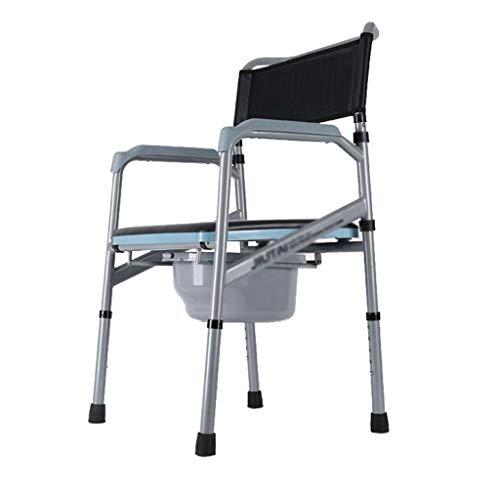 AFDK Höhenverstellbarer Töpfchenstuhl mit gepolstertem tragbarem Schwangeren-Toilettensitz für ältere Menschen Badezimmer-Duschhocker Robuster und langlebiger behindertengerechter Handlauf Kommodenst