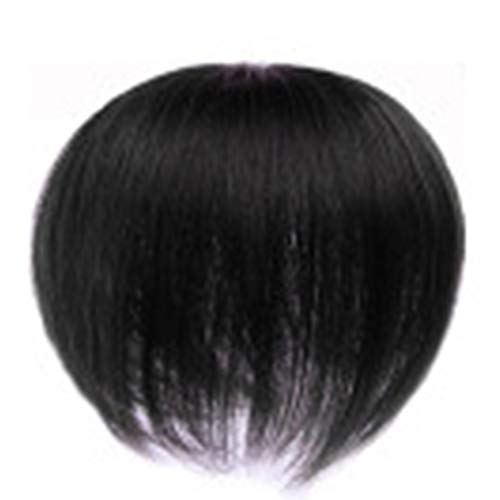 Price comparison product image Lishiny Topper Hair Piece,  Men Hair Topper Short Straight Toupee Hairpiece Hair Extensions for Covering White Loss Hair
