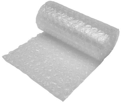 Embalaje de diamantes 1 rollo grande de burbujas   Tamaño: 300 mm de ancho x 10 m de largo, lo suficientemente fuerte ideal para movimiento de casa, transparente