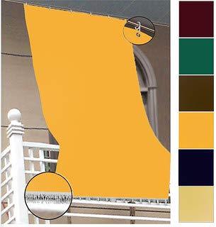 EUROSTYLE Tenda Sole Light Tinta Unita Esterno da Balcone (145X290CM,Tinta Unita Giallo)