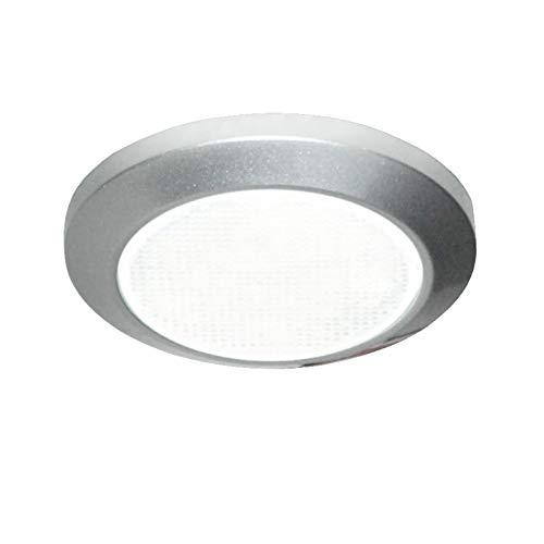 Carbest Lámpara LED de 12 V Mini Slim Down Light de 69 mm de diámetro, altura de 9,6 mm para caravanas y autocaravanas