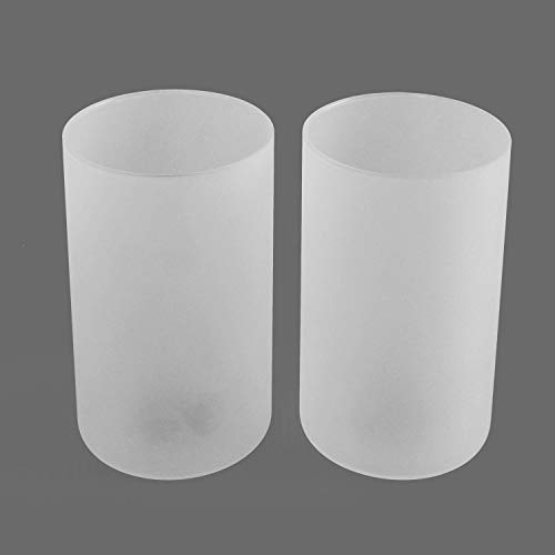 Eumyviv 2 Pack Frosted Glass Lamp Shade, Accessory Glass Fixture Replacement Globe or Lampshade with 1-5/8-Inch Fitter Opening A00019