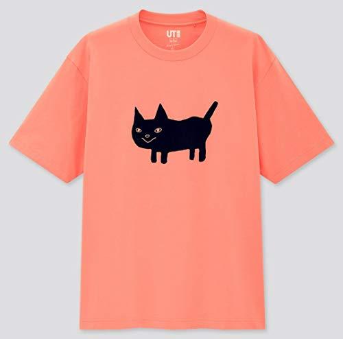 Lサイズ 米津玄師 ユニクロ コラボUT Tシャツ ピンク 猫ちゃん