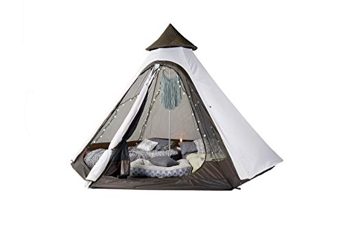 3 Person Quick Setup Lightweight Teepee Tent, Waterproof Cover, Shelter for Camping and Hiking