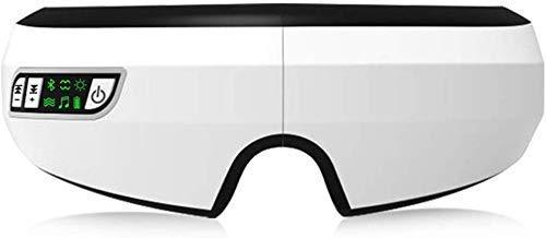 Pkfinrd Vibration verwarming therapie Anti Fatigue-luchtdruk Muziek-oog-glazen hoofd stress reliëf oogverzorgingsapparaat voor overbelasting van de ogen, droge ogen relax, geschikt voor thuis, kantoor en op reis