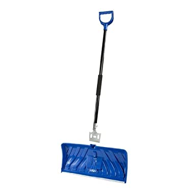 Snow Joe Edge SJEG24 2-In-1 24-Inch Poly Blade Snow Pusher and Ice Chopper, Blue