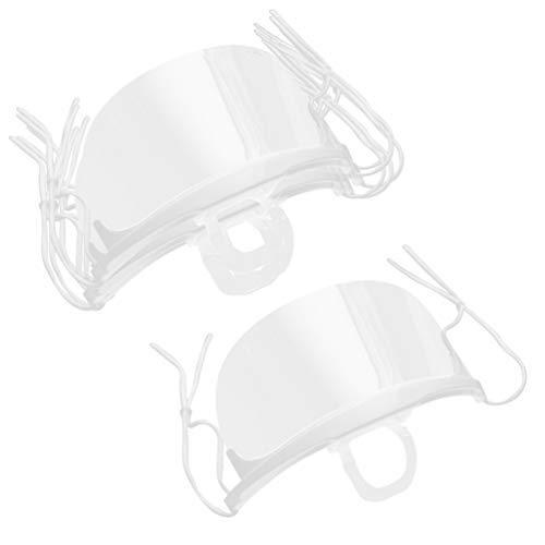 KESYOO 2 Boxen / 20 Stück Wiederverwendbarer Sicherheitsgesichtsschutz Transparenter Schutz Sheild Staubdichter Gesichtsschutzhut für Männer Und Frauen