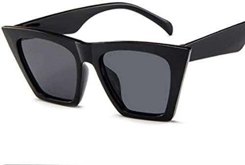 Gafas de sol de ojo de gato vintage retro para mujer, gafas de sol de moda de gran tamaño (color: leopardo), Black,