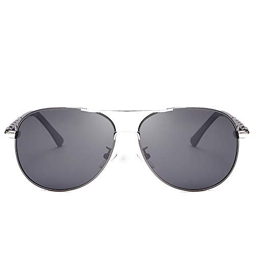 JIAGU Gafas de Sol de Estilo Gafas de Sol polarizadas Película a Color Gafas de Sol Grandes con Montura Que montan Gafas for Hombres (Color : A, Size : Free Size)