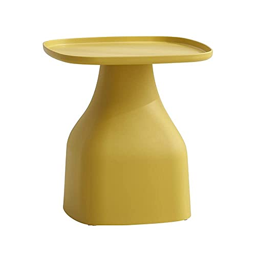 Tavolino Tavolino In Plastica Pp, Tavolino Da Salotto Personalizzato, Comodino Da Camera Da Letto Di Design Antiscivolo, Tavolino Ad Angolo Rotondo Da Balcone (Colore : Giallo) (Dimensioni: