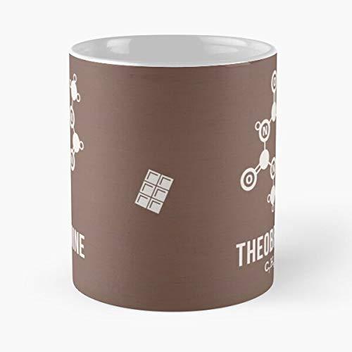 Theobromine Science Molecules Chemistry Chocolate Best 11 Ounce Ceramic Coffee Mug Best 11 oz Kaffeebecher - Nespresso Tassen Kaffee Motive !