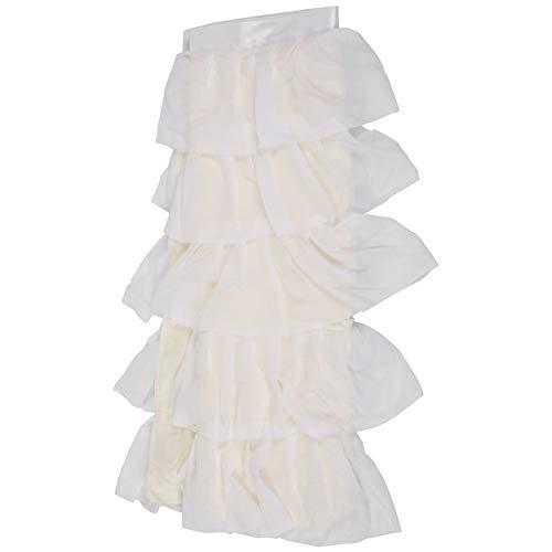 Fransande Falda de mesa de tul de 5 capas, falda tutú de mesa de baby shower, fiesta de cumpleaños, faldas de mesa para banquetes de boda, hotel, fiesta, decoración blanca
