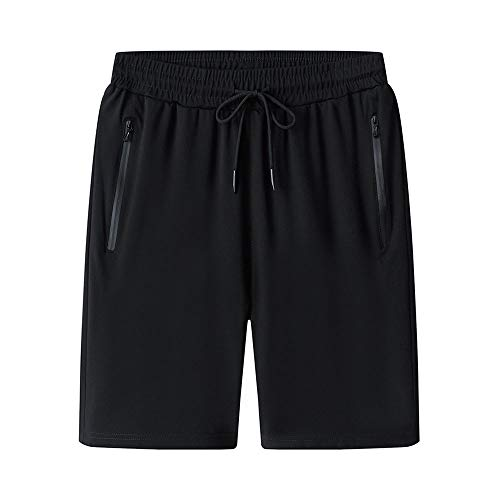 Preisvergleich Produktbild YMJ-DESY Herren Shorts beiläufige Kordelzug Sommer-Strand-Shorts mit elastischem Bund und Taschen, XL