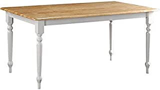 Boraam Farmhouse Table, White/Natural