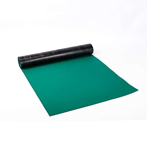 uyoyous ESD High Temperature Rubber Mat Green Anti Static Mat Desktop Large ESD Soldering Mat Roll ESD Vinyl Mat Electrostatic Discharge Protection Rubber Mat for Sensitive Electronics Working