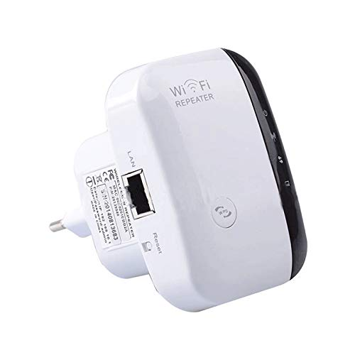 Extensor de repetidor de Red WiFi, Amplificador de señal de Velocidad de 300 Mbps, Red 2.4G, Antena de Puerto LAN incorporada de 10/100 mbps, fácil de configurar, Compatible con enrutador y Fibra.